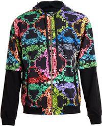 Versus  Baroque Print Hooded Sweatshirt - Lyst