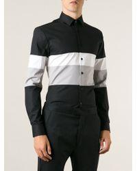 Les Hommes Slim Fit Striped Shirt - Lyst