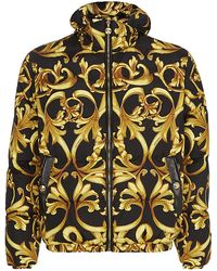 Versace Iconic Printed Puffer Jacket - Lyst