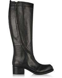 McQ by Alexander McQueen Leather Knee Boots - Lyst