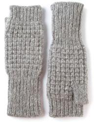 Duffy - Knitted Fingerless Mittens - Lyst