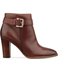 Tommy Hilfiger Vales Buckle Booties - Red