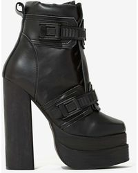 Nasty Gal Jeffrey Campbell Diverse Leather Boot - Lyst