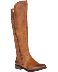 Steve Madden Northsde Tall Boot Cognac Leather brown - Lyst