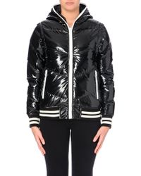 Izzue Patent Down Jacket - For Women - Lyst