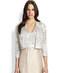 Kay Unger Sequined Jacket - Lyst