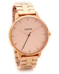 Nixon Kensington Watch  Rose Gold - Lyst