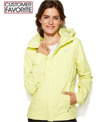 The North Face Resolve Zip-Up Waterproof yellow - Lyst