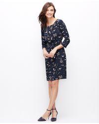 Ann Taylor Petite Floral Tie Waist Dress - Lyst