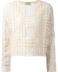 By Malene Birger Pura Embroidered Top - Lyst