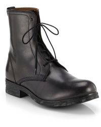 Diesel Riot Johnny Lace-Up Leather Boots - Lyst