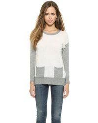 Top Secret - Berkshire Crew Neck Sweater - Ivory/Grey - Lyst
