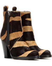 Acne Studios Mytheresacom Exclusive Colt Calf-hair Ankle Boots - Lyst