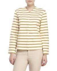 Trademark Mitchell Stripe Cardigan - Yellow