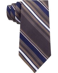 DKNY Zipper Stripe Slim Tie - Lyst