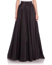 Nha Khanh Angie Faille Long Skirt - Black