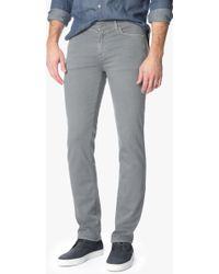 7 For All Mankind | Luxe Performance Colored Denim: Slimmy Slim Straight In Stone Grey Wash | Lyst