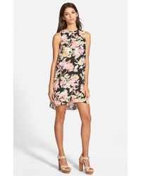 Leith Floral Shift Dress - Lyst