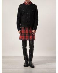 Givenchy Plaid Denim Jacket - Lyst