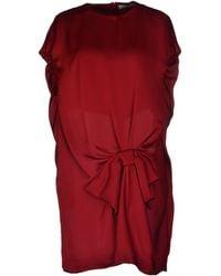 Viktor & Rolf Red Short Dress - Lyst