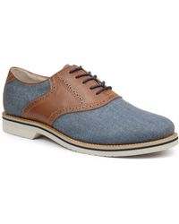 G.H. Bass & Co. Carson Linen And Leather Saddle Shoes - Lyst