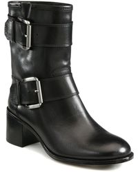 Boutique 9 - Leather Buckle Ankle Boots - Lyst