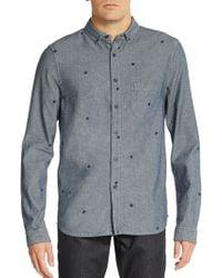 Alternative Apparel - Regular-fit Dot Chambray Sportshirt - Lyst
