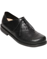 Peter Non - Crackled Leather Oxford Lace-up Shoes - Lyst