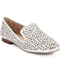 DV by Dolce Vita Mars Laser Cutout Leather Loafers white - Lyst