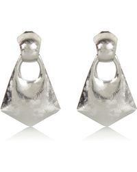 River Island Silver Tone Textured Statement Earrings - Lyst