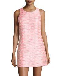 Cynthia Steffe Arlington Striped Sleeveless Shift Dress pink - Lyst