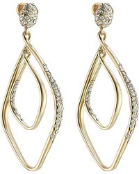 Alexis Bittar Linear Orbit Gold Plated Earrings With Crystals - Lyst