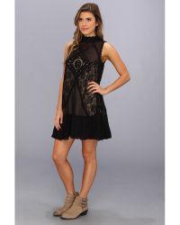 Free People Fp 1 Angel Lace Dress - Black
