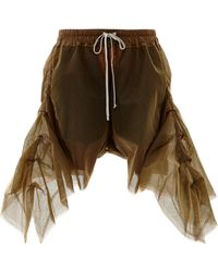 Rick Owens Frilled Shorts in Black Tulle - Lyst