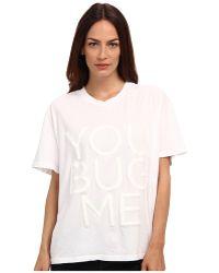 Vera Wang You Bug Me Tshirt - Lyst