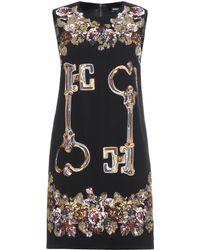 Dolce & Gabbana Embellished Crepe Dress - Lyst