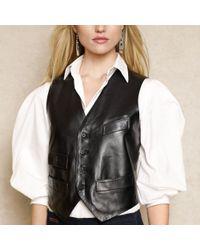 Ralph Lauren Blue Label | Leather Vest | Lyst