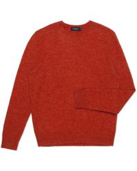 Paul Smith Red Mohair-Blend Knitted Sweater - Lyst