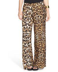 Lauren by Ralph Lauren Plus Leopard Print Wide-Leg Pants - Lyst