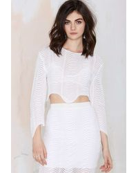 Nasty Gal Alice Mccall A Place Inside Crop Top - Lyst