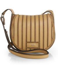 Anya Hindmarch Leather Suede Crossbody Bag - Lyst