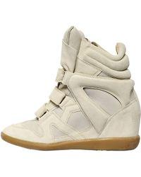 Isabel Marant 80mm Burt Suede Wedge High Top Sneakers - Lyst