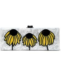 Edie Parker Flavia Wilted Daisy Clutch - Lyst