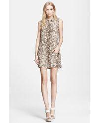 Equipment 'Lucida' Leopard Print Shirtdress - Lyst