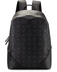MCM Duke Visetos Canvas Backpack - Black