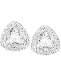 Swarovski Begin Palladium-plated Crystal Stud Earrings - Lyst