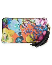 Milly 'Tropical Orchid' Clutch - Lyst