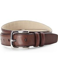Cole Haan Stitched Edge Leather Belt - Lyst