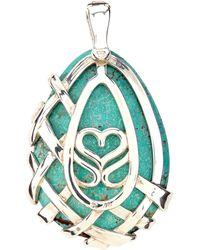 Slane - Crescent Weave Turquoise Pendant - Lyst