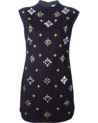 Tory Burch Embellished Shift Dress - Lyst